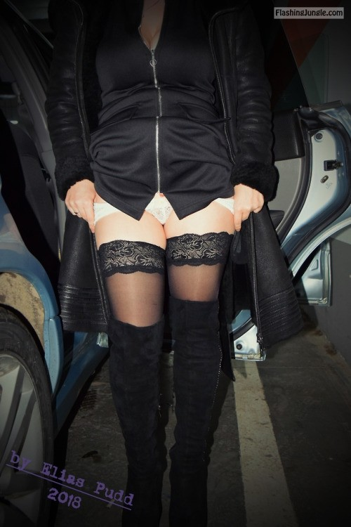 eliaspudd: In the underground parking. (1/3)10.02.2018P.S. We... no panties