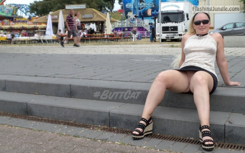 mastersbuttcat: #buttcat relaxing during a festival. no panties
