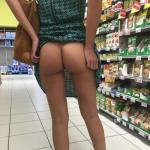 Scratching sexy tight booty at the store