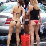 Bikini bottoms Florida car wash