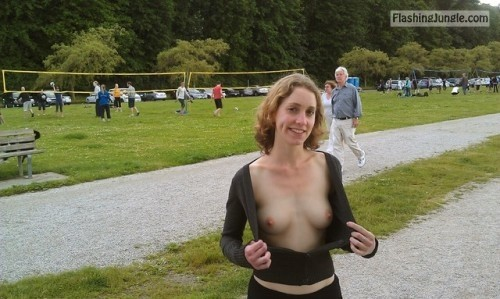 Flashing braless for old strangers public flashing howife boobs flash