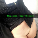 Pantyless and Horny at work