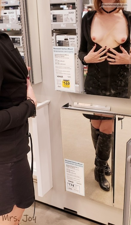 mrsjoyshared: There were so many sexy men at Lowe's watching me... no panties