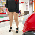Emichanhotwife knickerless in high heels