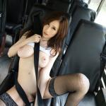 Skinny Japanese girl with huge tits nude in bus