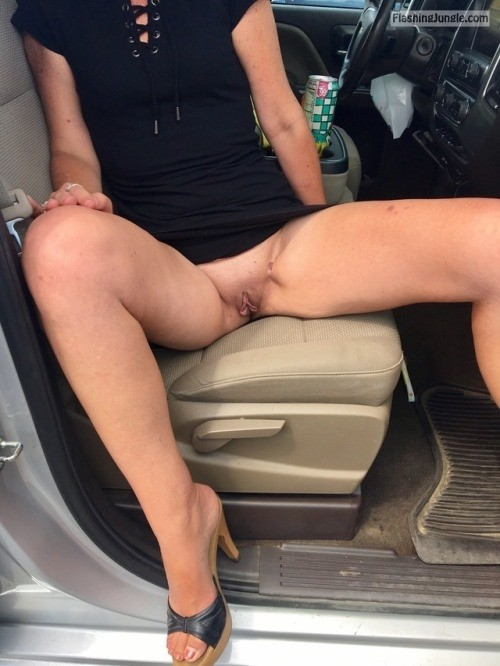 dirtyelectrician74:Wife getting brave in public ! Love that... public flashing