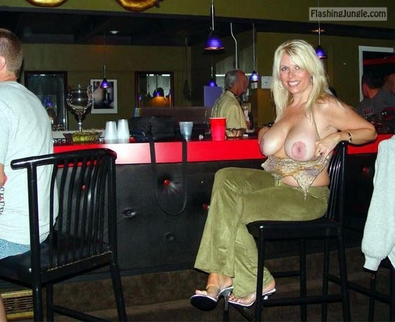 Hot Wife Natural Breasts In Cafe Boobs Flash Pics, Hotwife -2123