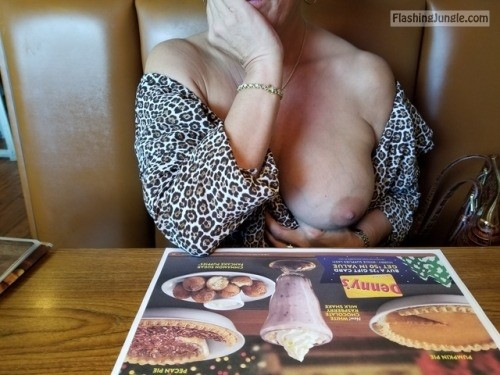 Woman big boob out in restaurant milf pics mature boobs flash