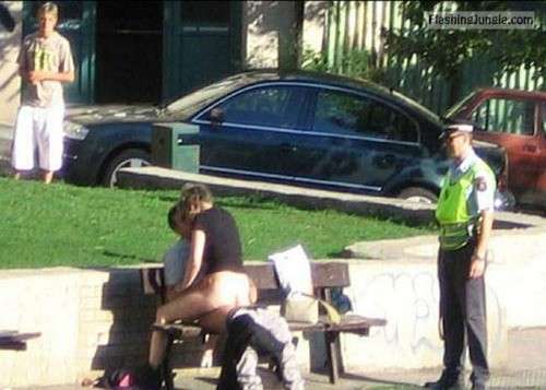Caught in act by police officer public sex in park voyeur public sex