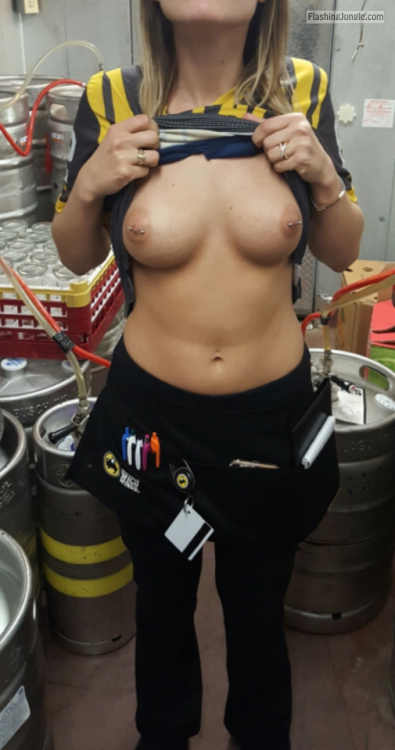 Girls at work flashing tits sorry, that