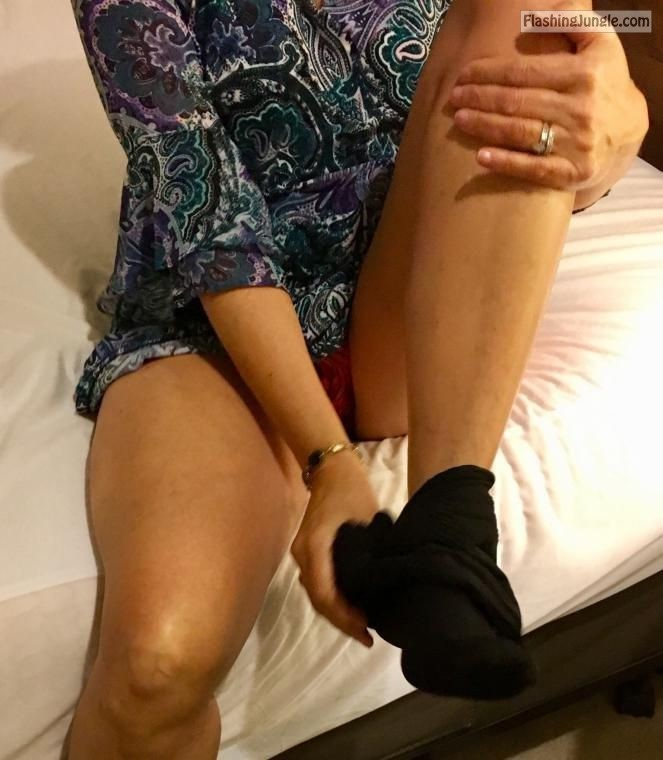 Wifey changing at the hotel room sexy legs upskirt real nudity howife