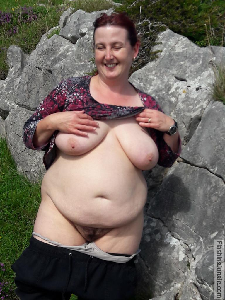Cock eager chubby woman flashing in nature real nudity public flashing milf pics mature boobs flash