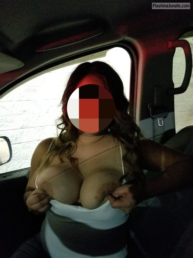 Full hands of boobs in car real nudity public flashing boobs flash