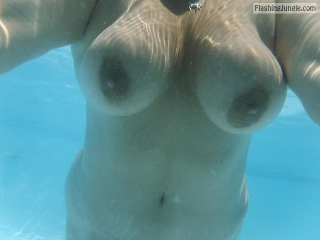Slut wife Terry Webb Swimming Naked in a Public Pool sex stories public nudity milf pics bitch