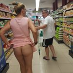 more of me flashing pantyless at supermarket – KittyD