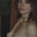 Topless Wife after shower vintage photo