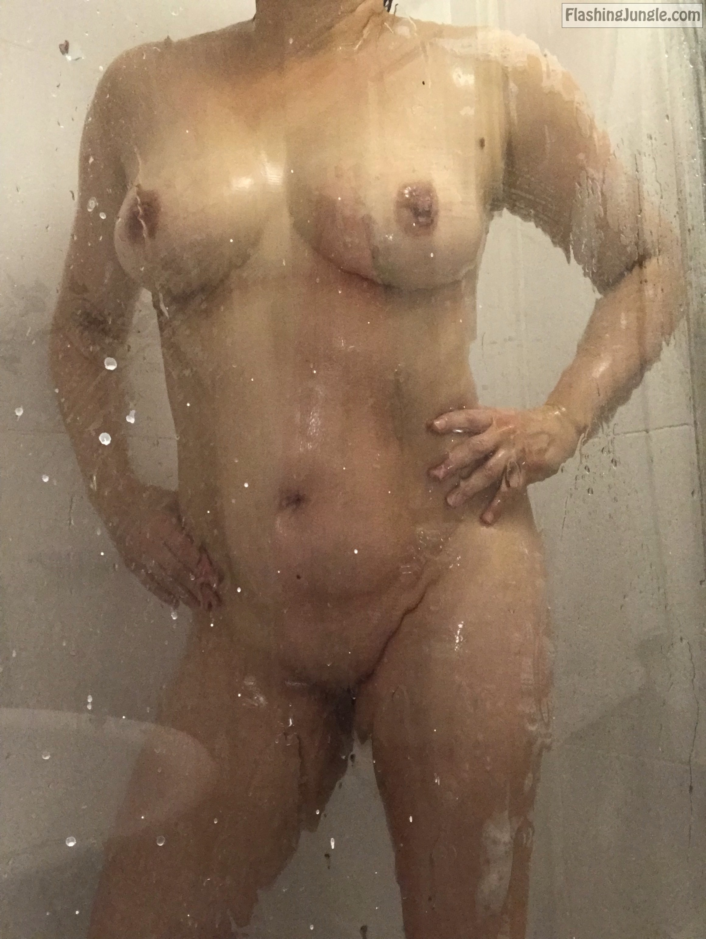 My wifes pussy and tits under shower real nudity pussy flash milf pics boobs flash