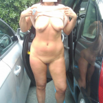 Wife nude public parking