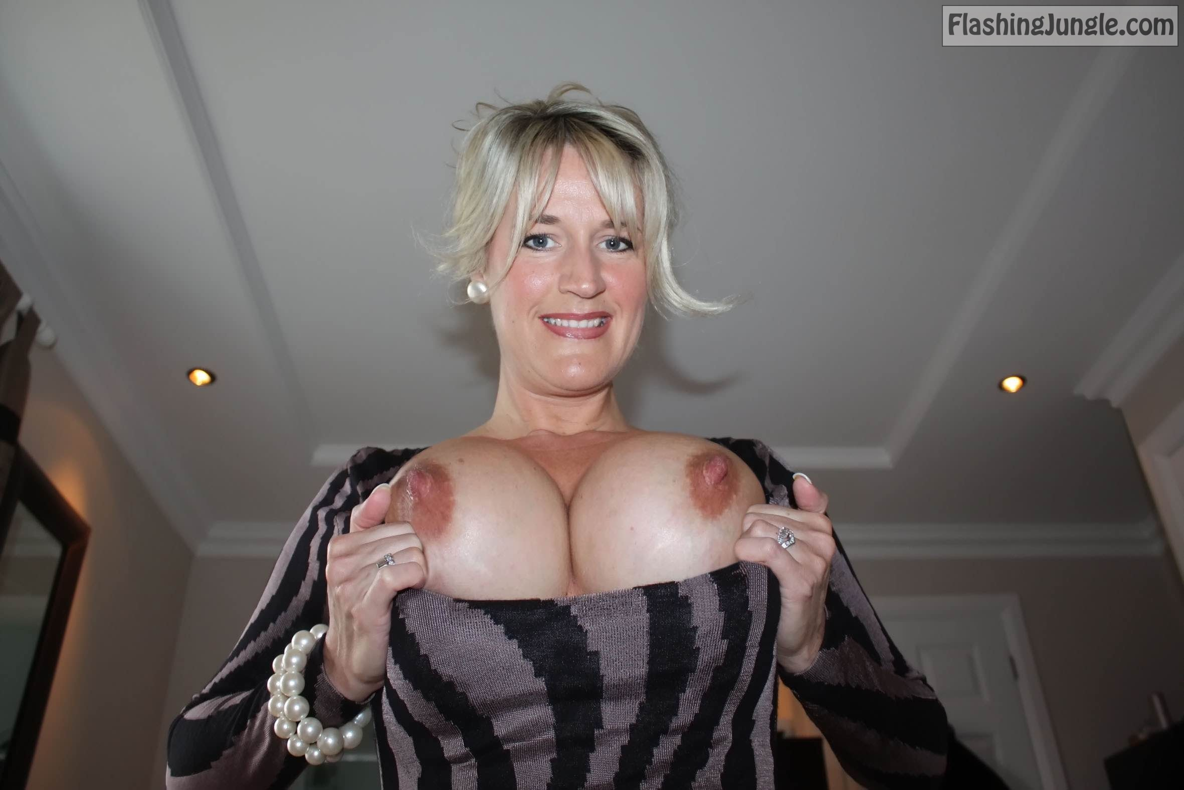 Lisa Flashing Big Tits