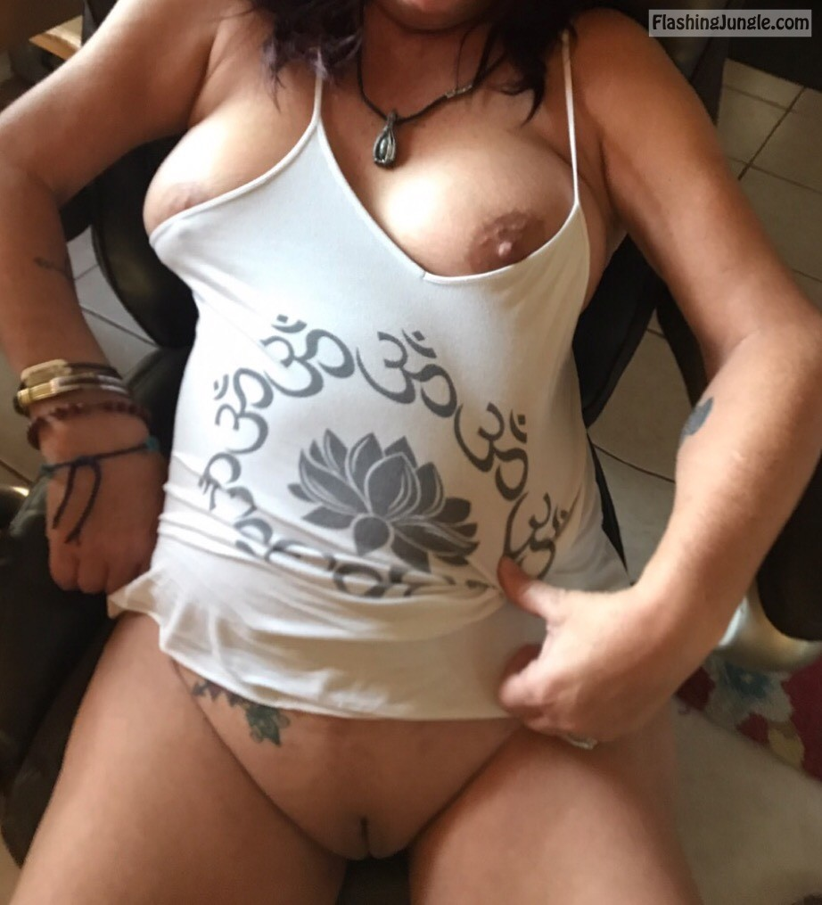 wife relaxing in chair real nudity