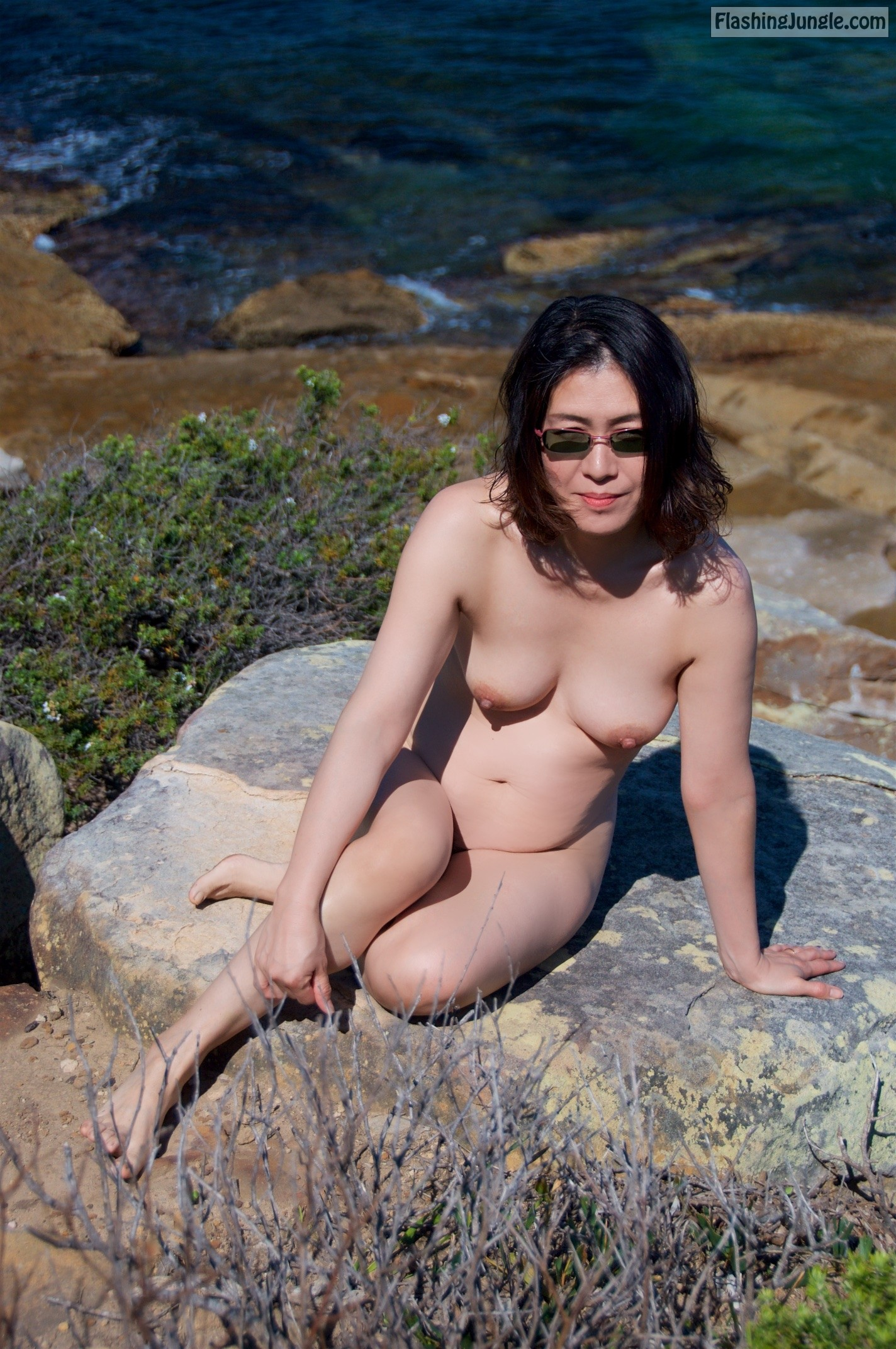 Japanese nude at the beach