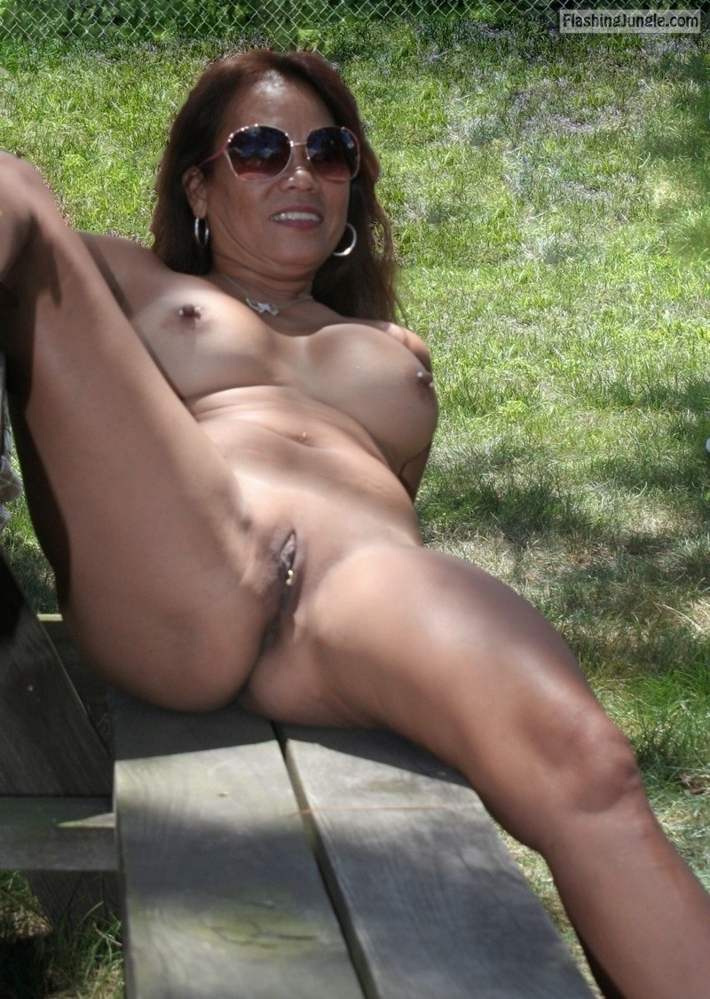 on the picnic table real nudity public nudity mature