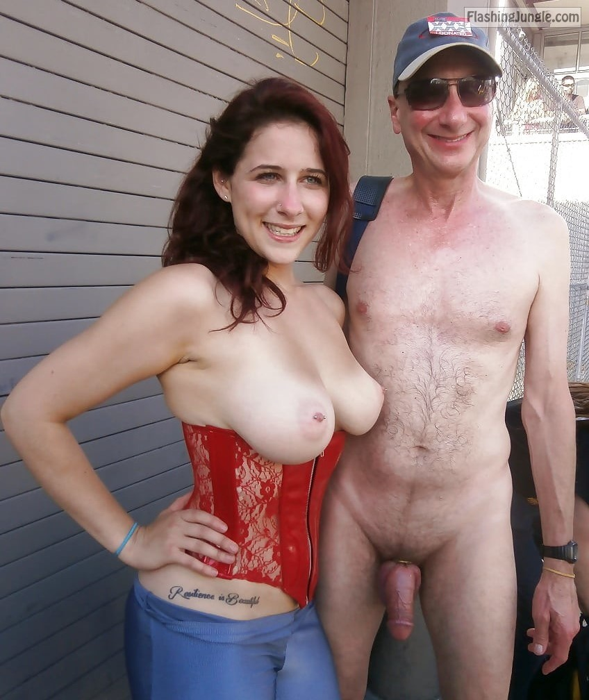 Naked ,Topless MILF,Folsom Street Fair,Exhibitionist Brucie real nudity
