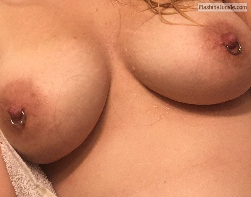 Pierced nips and beautiful natural boobies real nudity boobs flash