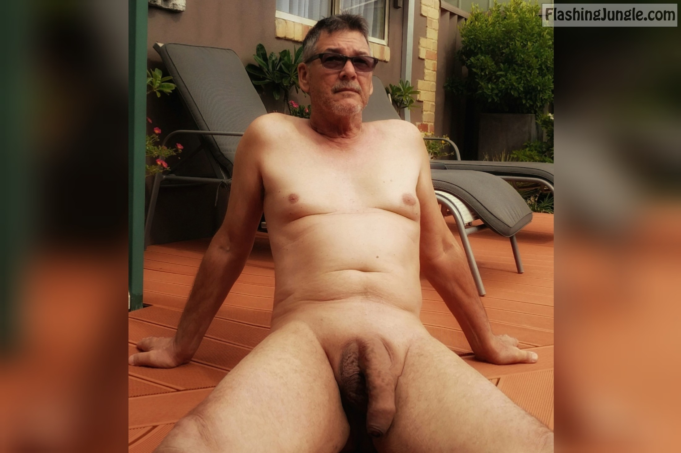 True <strong>nudist</strong> massive cock backyard exposure