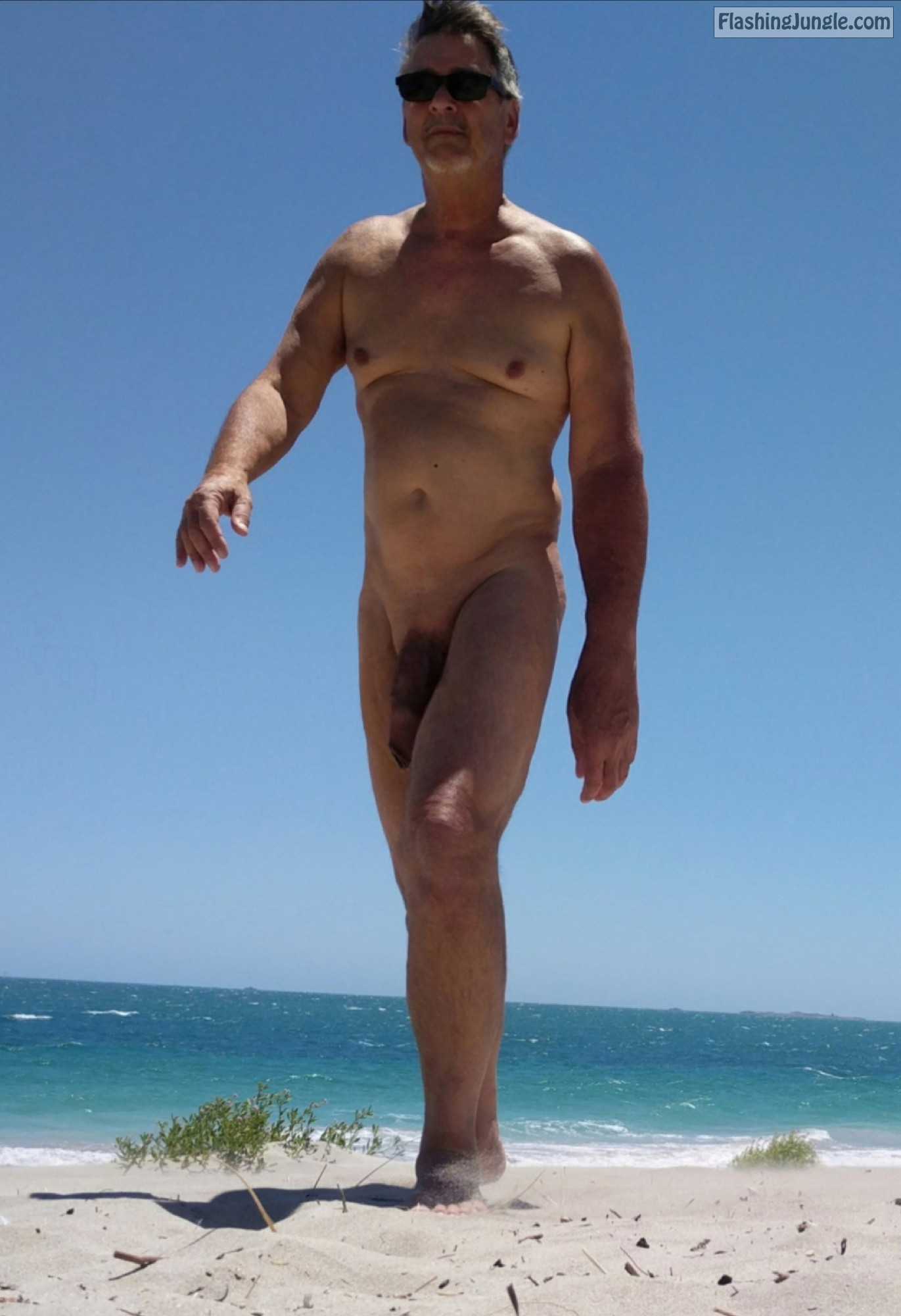 Amateur Mature Monster Cock on Beach - True <strong>nudist</strong> 5