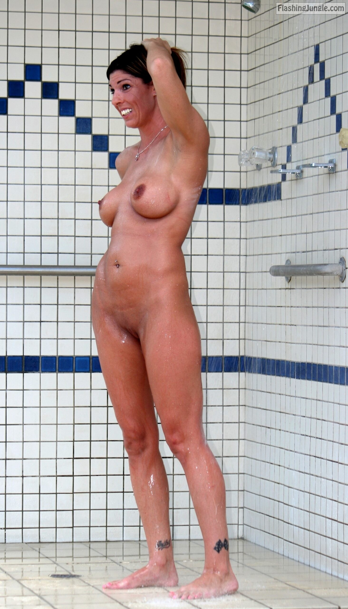 in the shower real nudity milf pics howife