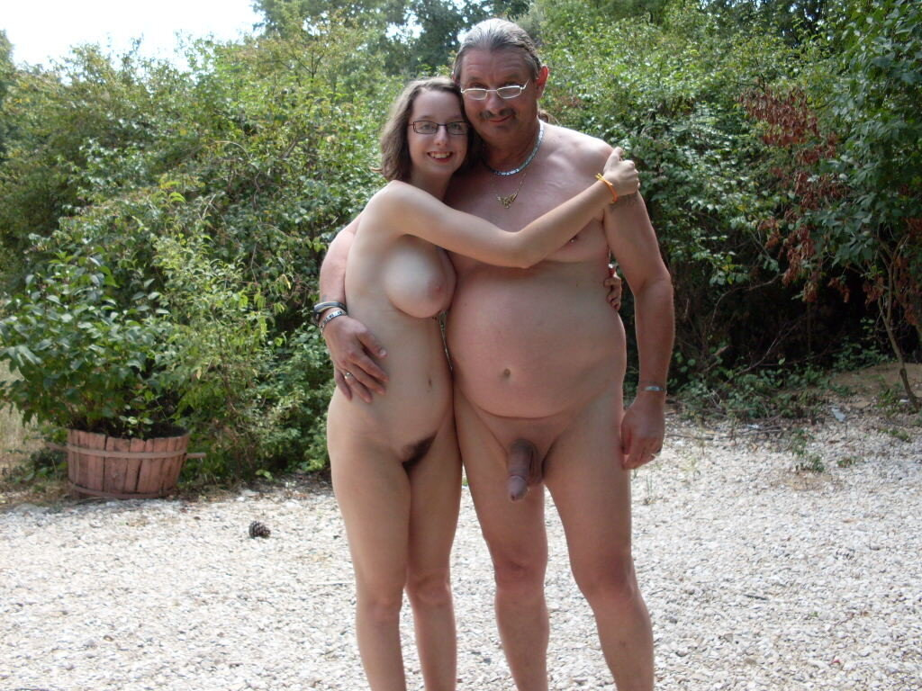 Suzie Naked Outside With Her Big Daddy Cock real nudity public nudity mature
