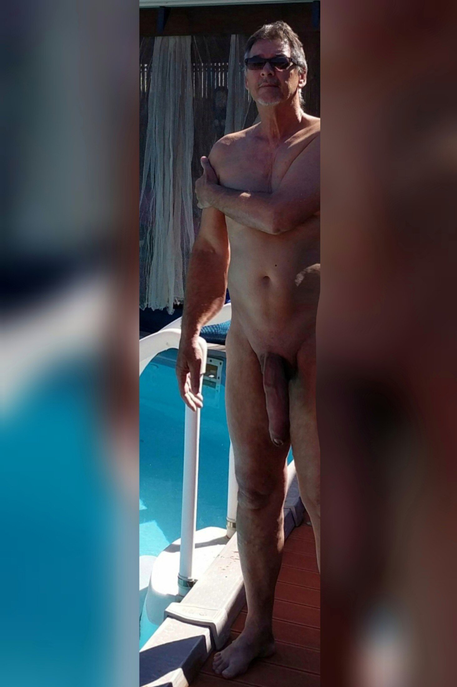 True nudist showing off big mature cock real nudity mature dick flash
