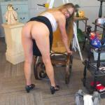 Mature Blonde Wife Flashing in Antique Store