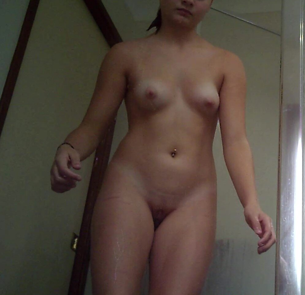 Cute brunette nude after bath real nudity pussy flash no panties howife