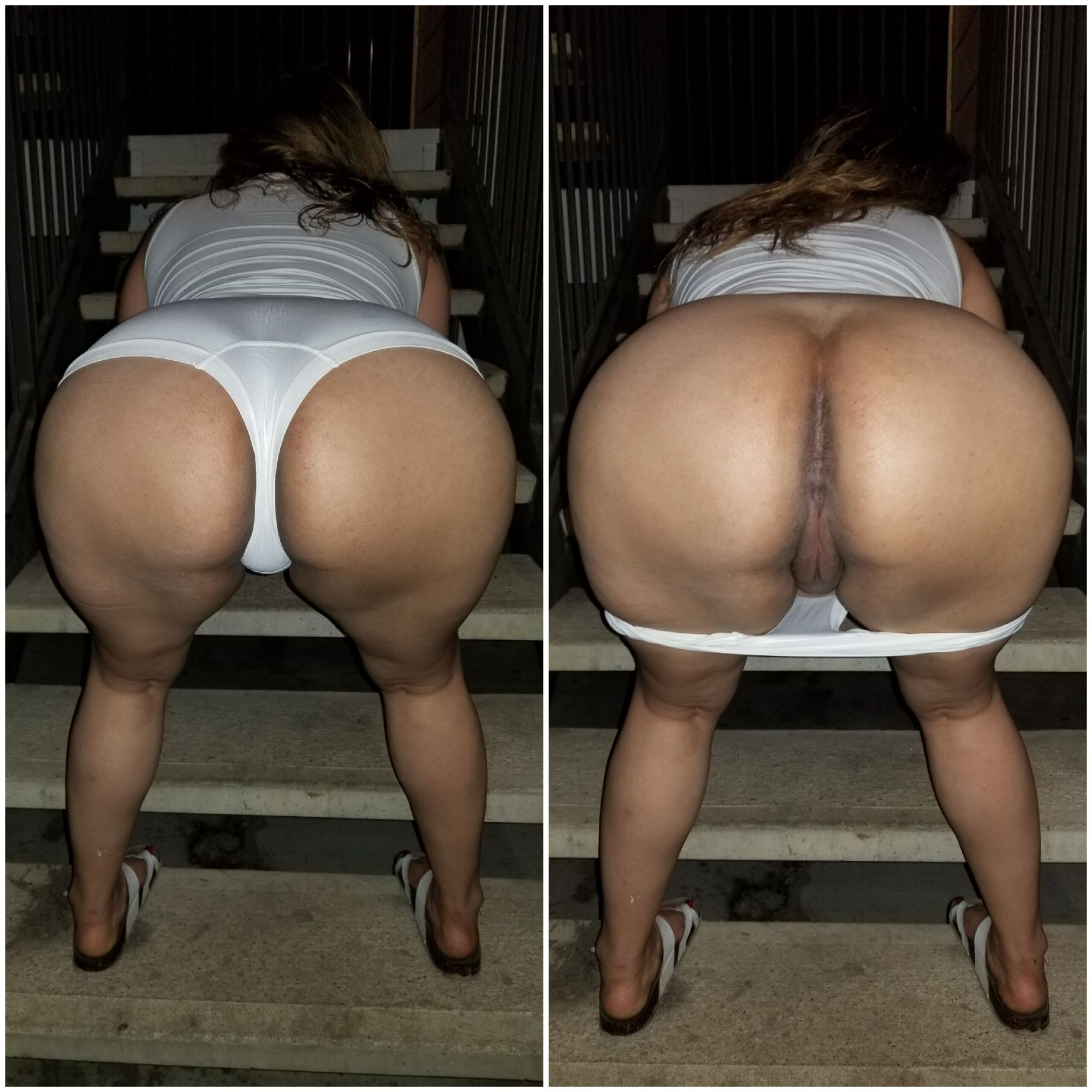 Wife Flashing Ass in Public real nudity