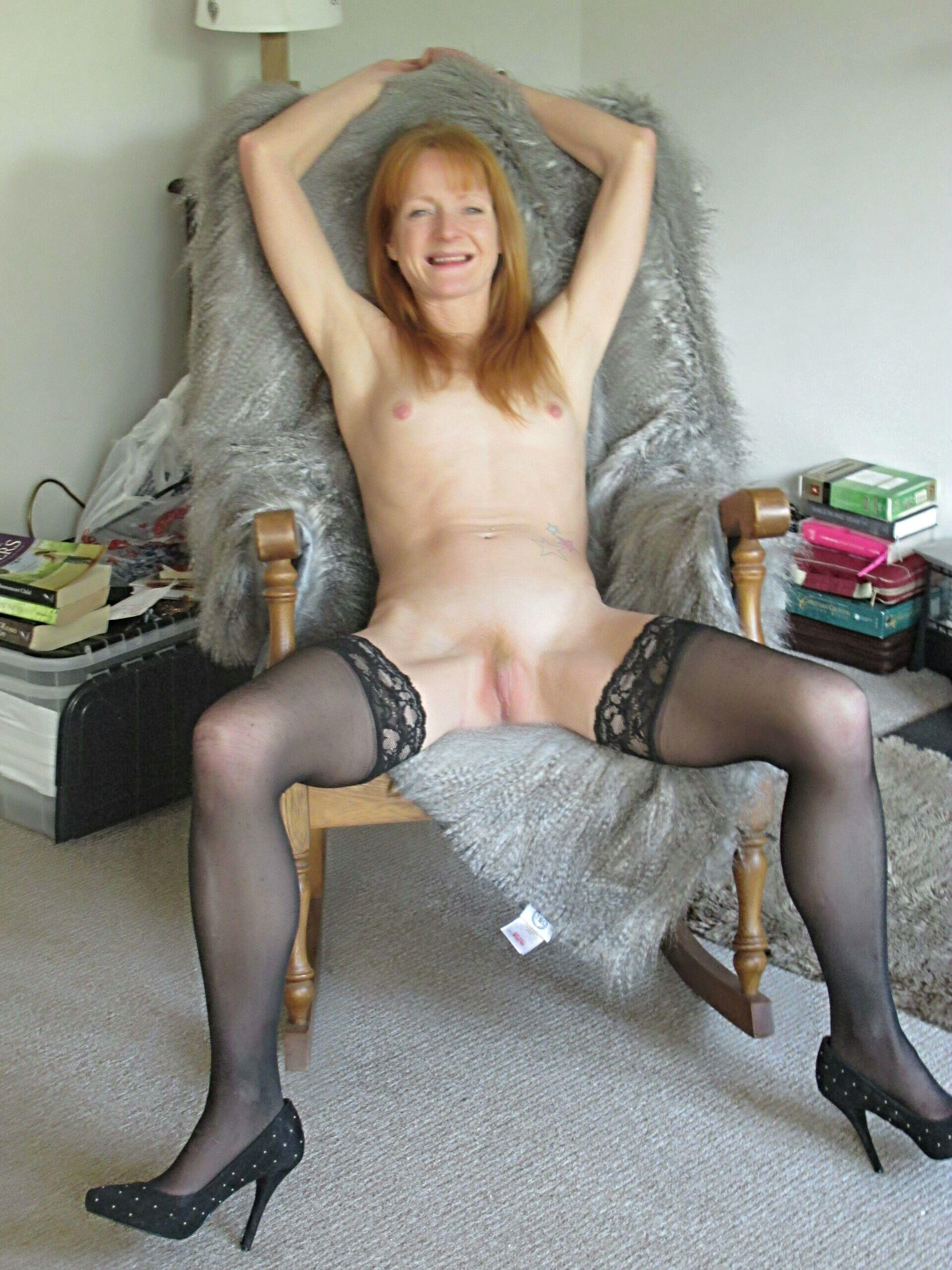 Small tits Redheaded fuck slut spreading legs in stockings real nudity pussy flash mature howife