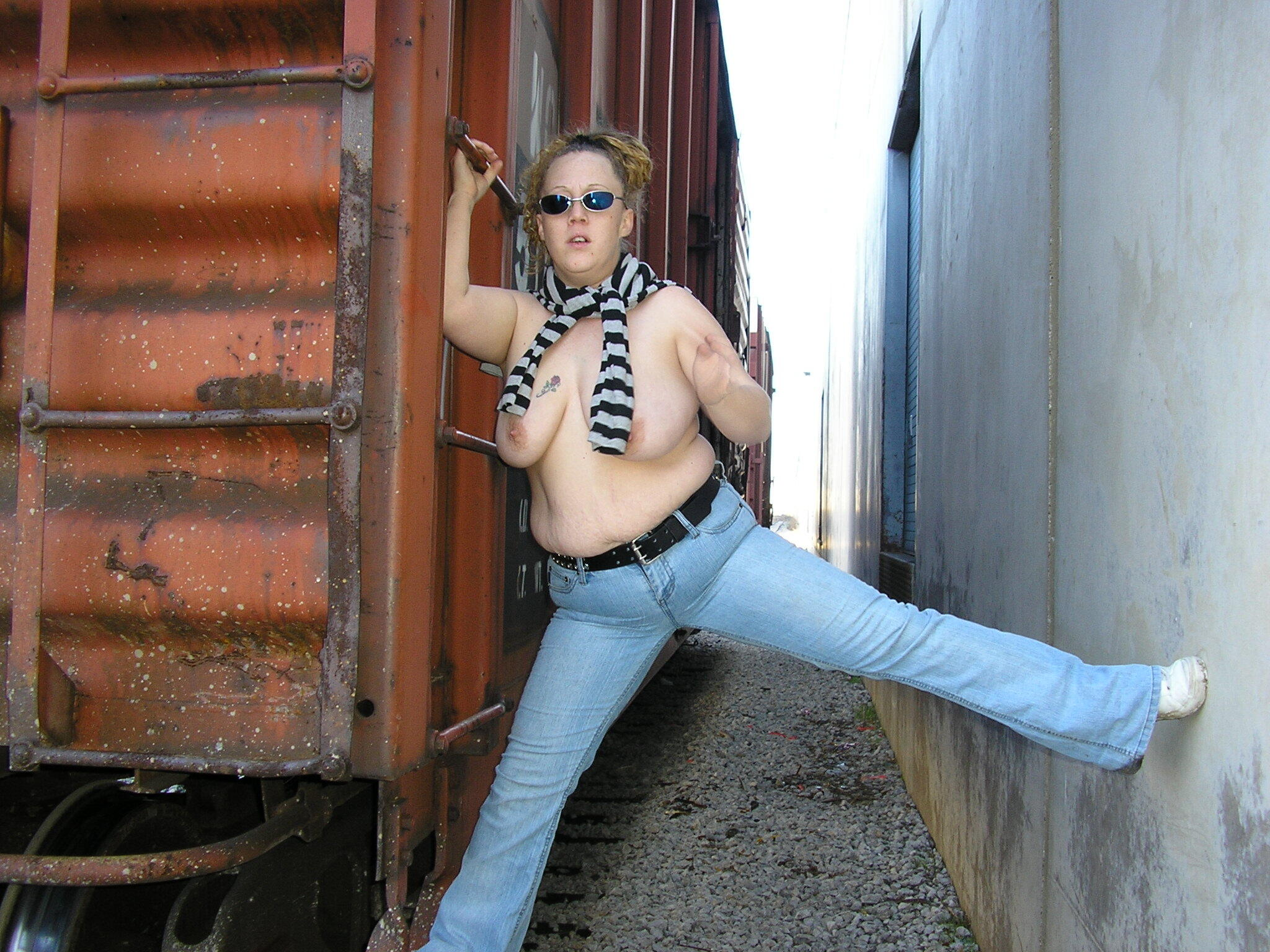 Rosy on the rails real nudity public flashing milf pics howife boobs flash
