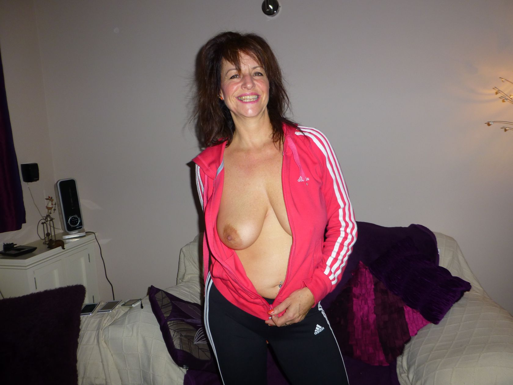 One tit out from smiley woman real nudity milf pics mature howife boobs flash