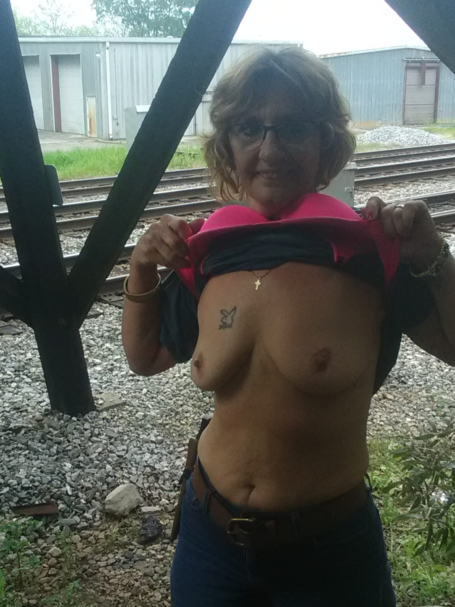 Granny flashing trains real nudity public flashing mature boobs flash