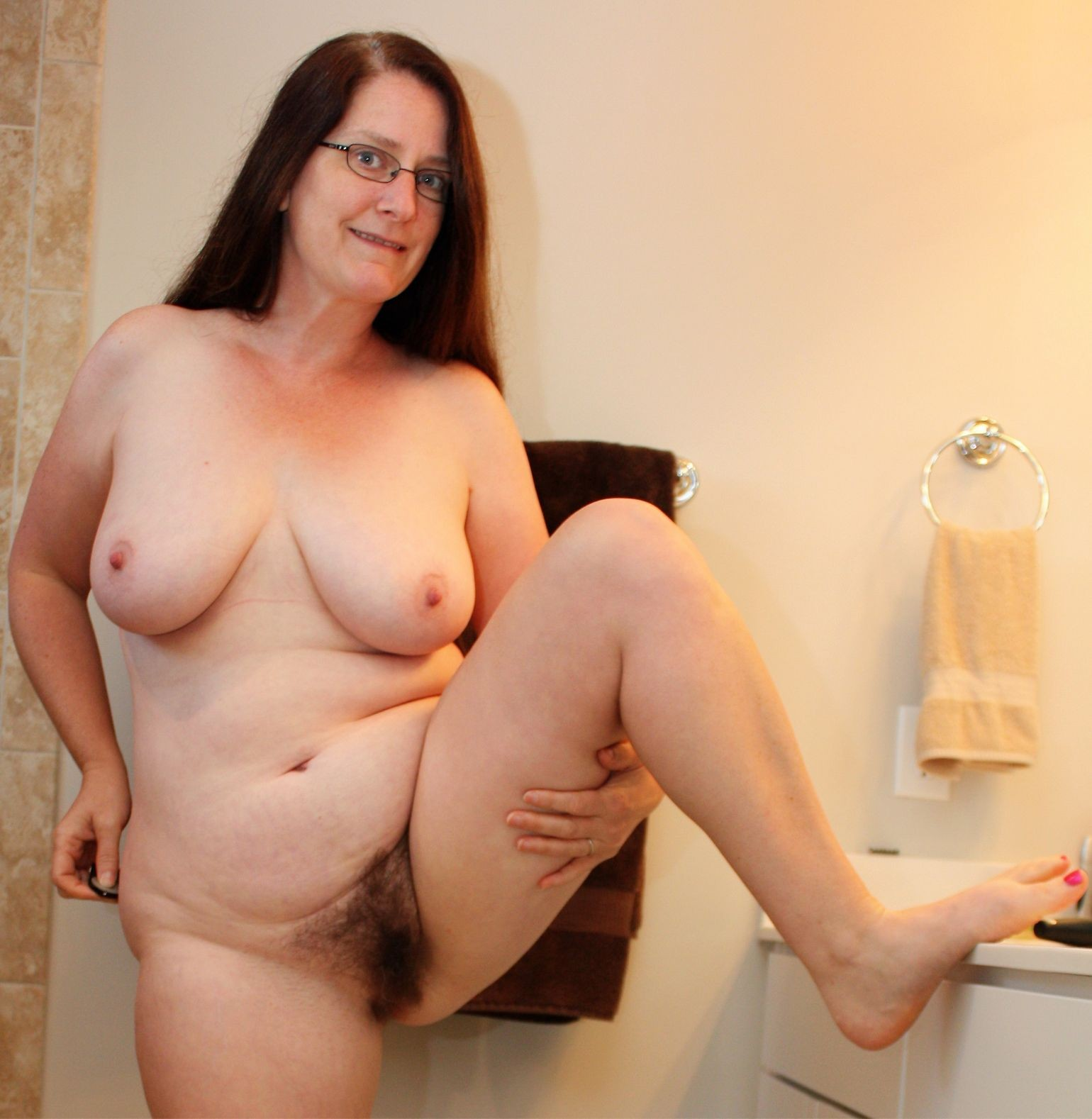 milf with glasses showing off hairy pussy real nudity pussy flash mature howife